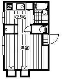 東京都荒川区西尾久1の賃貸アパートの間取り