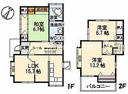 [一戸建] 岡山県倉敷市水江 の賃貸【/】の間取り