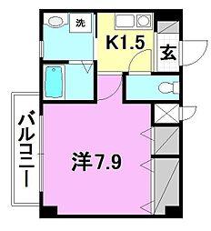 アクス-21[302 号室号室]の間取り