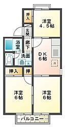 エクレール五井西C[2階]の間取り