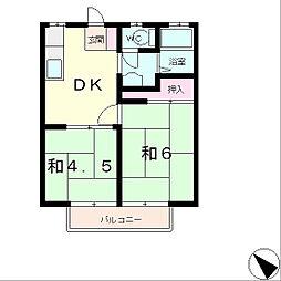クローバーハイツ[1階]の間取り