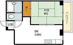コーポK.M[2階]の間取り