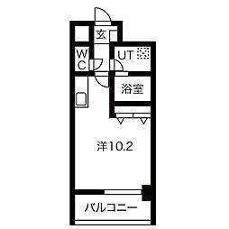 名古屋市営桜通線 野並駅 徒歩2分の賃貸マンション 7階1Kの間取り