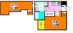 ドゥエマーニ・楠根 105号室[1階]の間取り