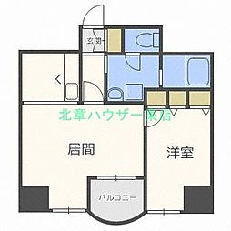 北海道札幌市東区北三十三条東16丁目の賃貸マンションの間取り