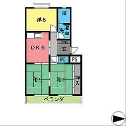 興産スカイハイツIII[4階]の間取り