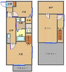 長崎県長崎市城栄町の賃貸アパートの間取り
