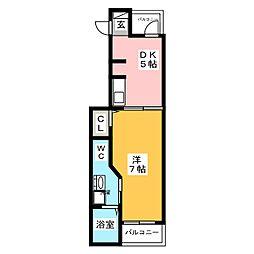 アンダーレ[3階]の間取り