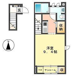エテルノ・プラシード1・2[2階]の間取り