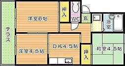 コーポラス高須南 第2[1階]の間取り