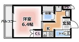 Cottage DainichiII[3階]の間取り