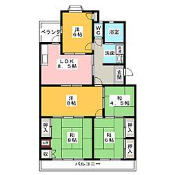 植田北住宅[2階]の間取り