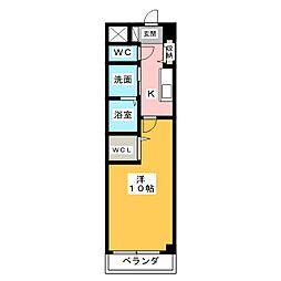 エクシヴコート[3階]の間取り