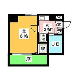 ライオンズマンション新栄[1階]の間取り
