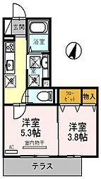 グレイスハウスII[1階]の間取り