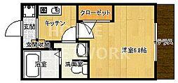 ボヌール嵐山[106号室号室]の間取り