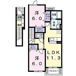 INUI36 B[202号室]の間取り