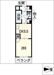 タウンM&E[4階]の間取り