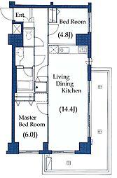 LANAI COURT 25[3階]の間取り