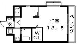 ロータリーマンション長田東[805号室号室]の間取り