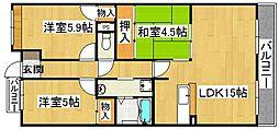 エトワールブリヤンII[3階]の間取り