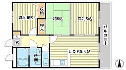 兵庫県姫路市大塩町の賃貸アパートの間取り