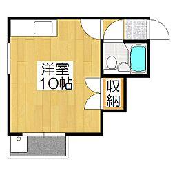 メゾン福島[2B号室]の間取り