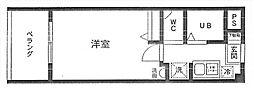 ビューハイム・コヤナギ睦[2階]の間取り