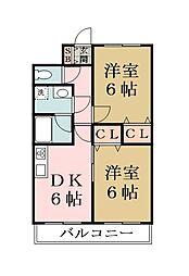 埼玉県草加市長栄1丁目の賃貸マンションの間取り