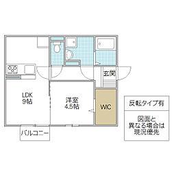 (仮)D-room松代2丁目[201号室号室]の間取り