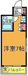 ベルハウス[302号室]の間取り