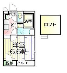 東京都足立区西伊興3丁目の賃貸アパートの間取り
