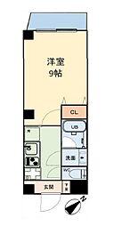グリュックメゾン本田 3階1Kの間取り