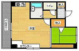 ベルトピア福岡III[5階]の間取り