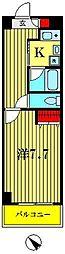 埼玉県越谷市赤山本町2丁目の賃貸マンションの間取り