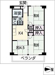 愛宕住宅[4階]の間取り