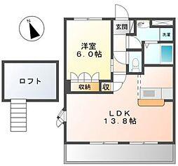 コーポ・サカシタA・B棟[2階]の間取り