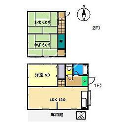 [一戸建] 高知県高知市中万々 の賃貸【/】の間取り