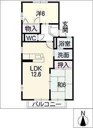 タウンハウス[2階]の間取り