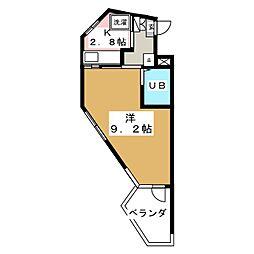 旭サークルコンフォート[3階]の間取り