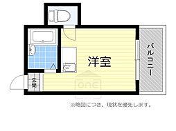 タウンコート桜川[6階]の間取り