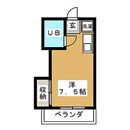 ハイツ9[1階]の間取り