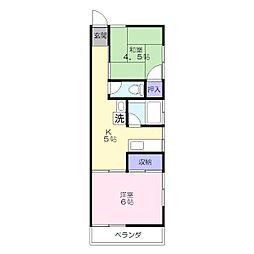 富士コーポ[1-A号室]の間取り