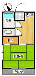 第2和美荘[205号室]の間取り