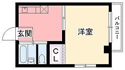 中山ハイツ[302号室]の間取り
