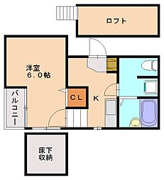 ベネフィスタウン井尻2[1階]の間取り