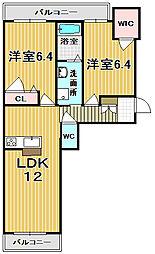 シャーメゾン青垣[3階]の間取り