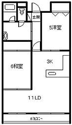 キタノマンション[302号室]の間取り