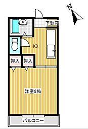 シャトレふじ K[112号室]の間取り
