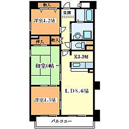 エクセル姫島[3階]の間取り